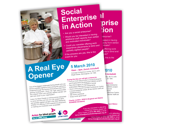 Action for Blind People Email Flyer | New Start Design