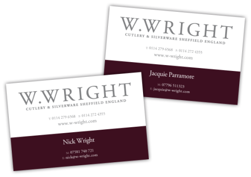 W Wright Business Cards