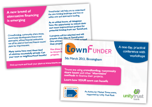 AMT Town Funder Postcard