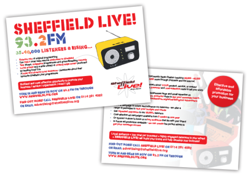 Sheffield Live! Postcard