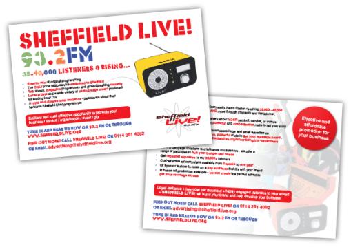Sheffield Live! Postcard