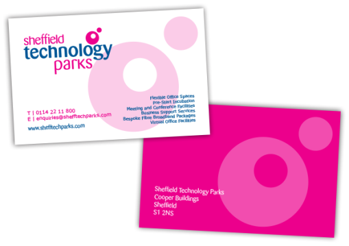 Sheffield Technology Parks Business Card