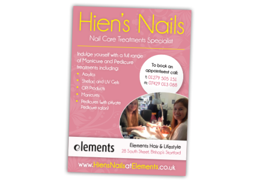 Hien's Nails Advert